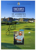 Golf Collectibles:Autographs, Tiger Woods Signed 2000 British Open Program....