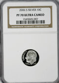 Proof Roosevelt Dimes, 2006-S 10C Silver PR70 Ultra Cameo NGC. PCGS Population (71/0).(#95317)...