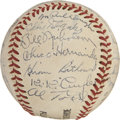 Autographs:Baseballs, 1943 Chicago Cubs Team Signed Baseball....