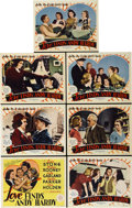 """Movie Posters:Comedy, Love Finds Andy Hardy (MGM, 1938). Title Card and Lobby Cards (6)(11"""" X 14"""").... (Total: 7 Items)"""