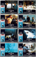 "Movie Posters:Horror, Jaws (Universal, 1975). Lobby Card Set of 8 (11"" X 14"").... (Total:8 Items)"