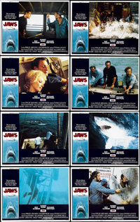 "Jaws (Universal, 1975). Lobby Card Set of 8 (11"" X 14"").... (Total: 8 Items)"
