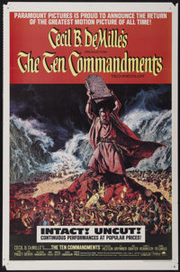 "The Ten Commandments (Paramount, R-1966). One Sheet (27"" X 41""). Historical Drama"