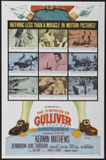 """Movie Posters:Fantasy, The 3 Worlds of Gulliver (Columbia, 1960). One Sheet (27"""" X 41"""").Fantasy...."""