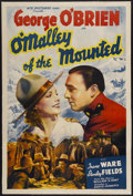"""Movie Posters:Western, O'Malley of the Mounted (Ace, R-1940s). One Sheet (27"""" X 41""""). Western...."""