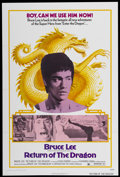 "Movie Posters:Action, Return of the Dragon (Bryanston, 1974). One Sheet (27"" X 41"").Action...."