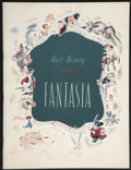 "Movie Posters:Animated, Fantasia (RKO, 1940 and R-1977). Programs (2) (9.75"" X 12.75"" and8.75"" X 8.75""). Animated.... (Total: 2 Items)"