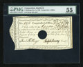 Colonial Notes:Connecticut, Connecticut December 9, 1790 5s Anderson CT 55 PMG AboutUncirculated, Hole Cancelled....
