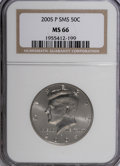 Kennedy Half Dollars, 2005-P 50C Satin Finish MS66 NGC. PCGS Population (24/1714). (#96788)...