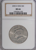 Kennedy Half Dollars, 2005-D 50C Satin Finish MS66 NGC. PCGS Population (90/454). (#96789)...