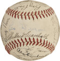 Autographs:Baseballs, 1948 New York Giants Team Signed Baseball....