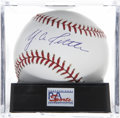 Autographs:Baseballs, Y. A. Tittle Single Signed Baseball, PSA Gem Mint 10. ...