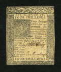 Colonial Notes:Delaware, Delaware January 1, 1776 4s Very Fine-Extremely Fine....