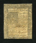 Colonial Notes:Delaware, Delaware January 1, 1776 18d Fine....