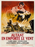 "Movie Posters:Academy Award Winner, Gone with the Wind (MGM, R-1954). French Grande (47"" X 63"")...."