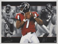 Football Collectibles:Others, Michael Vick Signed Lithographs Lot of 5.... (Total: 5 items)
