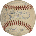 Autographs:Baseballs, 1948 Detroit Tigers Team Signed Baseball....