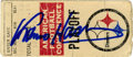 """Football Collectibles:Others, Franco Harris Signed Ticket Stub from the """"Immaculate Reception"""" Game...."""