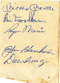 Autographs:Letters, 1963 New York Yankees Signed Sheet with Mantle and Maris....