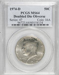 Kennedy Half Dollars: , 1974-D 50C Doubled Die Obverse MS64 PCGS. PCGS Population (232/72).(#96723)...
