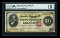 Large Size:Gold Certificates, Fr. 1197 $50 1882 Gold Certificate PMG Choice Fine 15....