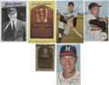 Autographs:Post Cards, Baseball Hall of Famers Signed Cards Group Lot of 6.... (Total: 6items)