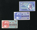 Military Payment Certificates:Series 661, Series 661 10¢; 50¢; $1 Gem New. This trio has been well preserved.. ... (Total: 3 notes)