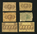 Fractional Currency:First Issue, First Issue Fractionals.. Fr. 1230 5c First Issue. Three Examples. Good-VG; VG; Fine . Fr. 1242? 10c First Issue Poor... (Total: 6 notes)