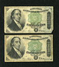 Fractional Currency:Fourth Issue, Fr. 1379 50c Fourth Issue Dexter. Two Examples. Fine.. ... (Total: 2 notes)