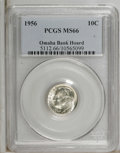 Roosevelt Dimes: , 1956 10C MS66 PCGS. PCGS Population (1152/172). NGC Census:(740/482). Mintage: 108,640,000. Numismedia Wsl. Price for NGC/...
