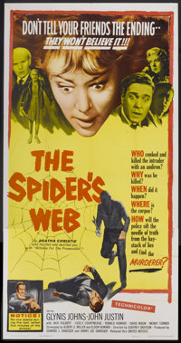 "The Spider's Web (United Artists, 1961). Three Sheet (41"" X 81""). Mystery"