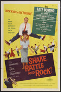 "Movie Posters:Rock and Roll, Shake, Rattle and Rock (American International, 1956). One Sheet(27"" X 41""). Rock and Roll...."