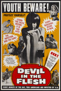 "Movie Posters:Sexploitation, Devil in the Flesh (Unknown, 1960s). One Sheet (28"" X 42"").Sexploitation...."
