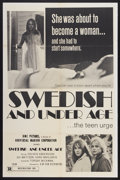 """Movie Posters:Adult, Swedish and Under Age (UMC, 1971). One Sheet (27"""" X 41""""). Adult...."""