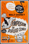 "Movie Posters:Animated, A Symposium on Popular Songs (Buena Vista, 1962). One Sheet (27"" X41""). Animated...."