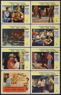 """Man in the Shadow (Universal, 1958). Lobby Card Set of 8 (11"""" X 14""""). Released as Pay the Devil in the UK. Dra..."""