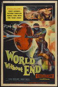 "Movie Posters:Science Fiction, World Without End (Allied Artists, 1956). One Sheet (27"" X 41"").Science Fiction...."