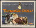 "Movie Posters:Bad Girl, Teenage Doll (Allied Artists, 1957). Half Sheet (22"" X 28""). BadGirl...."