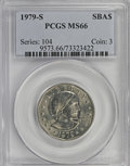 Susan B. Anthony Dollars: , 1979-S SBA$ MS66 PCGS. PCGS Population (677/176). NGC Census:(167/82). Mintage: 109,576,000. ...