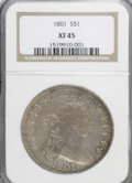 Early Dollars: , 1801 $1 XF45 NGC. NGC Census: (34/79). PCGS Population (35/71).Mintage: 54,454. Numismedia Wsl. Price for NGC/PCGS coin in...