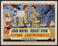 "Movie Posters:War, Flying Leathernecks (RKO, 1951). Half Sheet (22"" X 28"") Style B.War...."