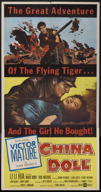 "China Doll (United Artists, 1958). Three Sheet (41"" X 81""). War"