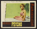 """Movie Posters:Hitchcock, Psycho (Paramount, 1960 and R-1972). Autographed Lobby Card (11"""" X 14"""") and Mini Window Card (10"""" X 14""""). Hitchcock.... (Total: 2 Items)"""
