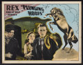 "Movie Posters:Western, Plunging Hoofs (Universal, 1929). Lobby Card (11"" X 14""). Western.. ..."