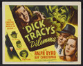 "Movie Posters:Crime, Dick Tracy's Dilemma (RKO, 1947). Title Lobby Card (11"" X 14"").Crime...."