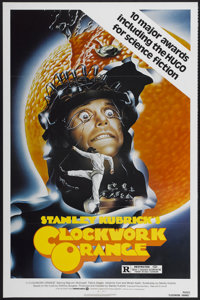 "A Clockwork Orange (Warner Brothers, R-1982). One Sheet (27"" X 41""). Science Fiction"