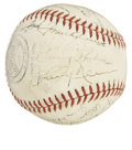 Autographs:Baseballs, 1941 Newark Bears Team Signed Baseball. ...