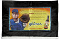 Baseball Collectibles:Others, Limited-Edition Helmar Silk Advertising Banners Lot of 5....(Total: 5 items)