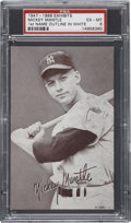 Baseball Cards:Singles (1940-1949), 1947-1966 Exhibits Mickey Mantle PSA EX-MT 6....