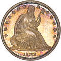 Patterns, 1839 P50C Seated Liberty Half Dollar, Judd-102 Restrike,Pollock-113, High R.7, PR66 NGC....